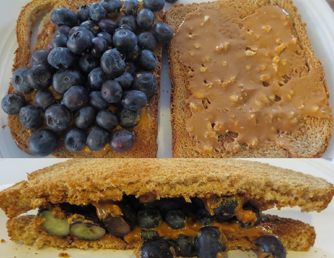 Peanut Butter & Fruit Sandwiches!