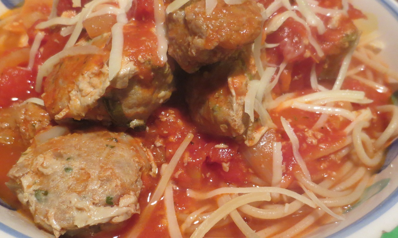 Sporty Spag & Munchie Meatballs; A Power Packed Meal!