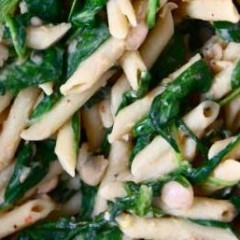 White Bean & Penne with Kale & Asiago