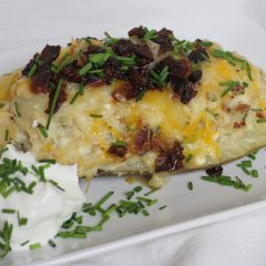 Twice Baked Chicken Potato with BACON & CHEESE!!!