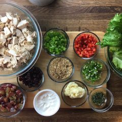 Rosemary Chicken Salad Wraps