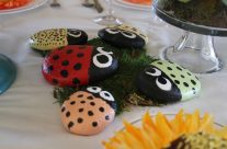 Painted Ladybug Rocks-Perfect for Gardens, pots & planters!