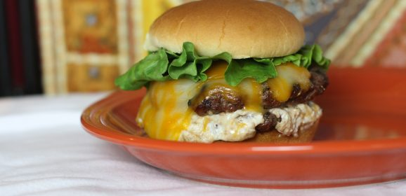 Cheese Stuffed Basil Burgers!